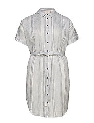 CARNAOMI S/S SHIRT DRESS MIDKNEE - WHITE