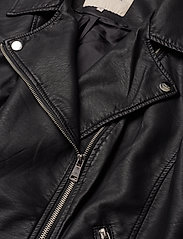 ONLY Carmakoma - CAREMMY FAUX LEATHER BIKER NOOS - leather jackets - black - 4