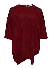 CARMARTHA 3/4 LONG TUNIC - MERLOT