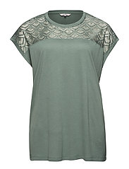 CARFLAKE S/S MIX TOP NOOS - CHINOIS GREEN
