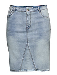 CARMILA REG SKIRT - LIGHT BLUE DENIM
