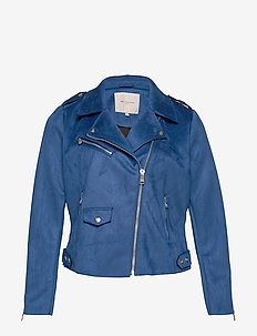 CARSHERRY BONDED BIKER OTW - leather jackets - mazarine blue