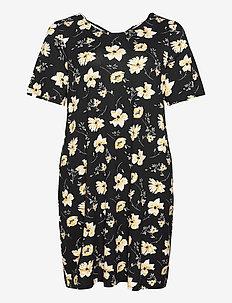 CARBANDANA S/S DRESS - midi kjoler - black