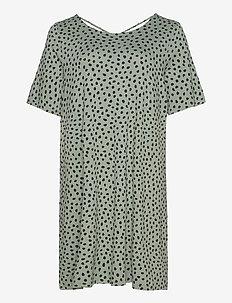 CARBANDANA S/S DRESS - midi kjoler - chinois green