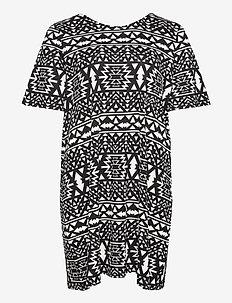 CARBANDANA S/S DRESS - do kolan & midi sukienki - cloud dancer