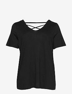 CARBANDANA S/S TOP - t-shirts - black