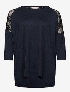 CARCARMA 3/4 LACE TOP ESS - NIGHT SKY