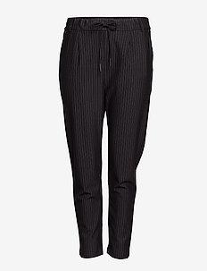 CARGOLDTRASH PINSTRIPE PANT NOOS - casual housut - black