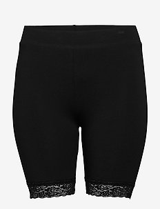 CARTIME SHORTS LIFE WITH LACE NOOS - casual szorty - black