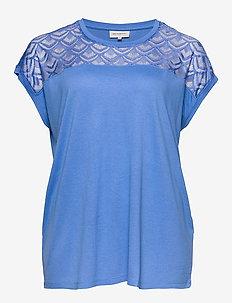 CARFLAKE S/S MIX TOP ESS - t-shirts - marina