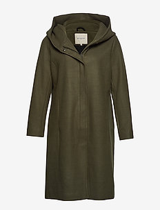 CARSEDONA LONG WOOL COAT - grape leaf