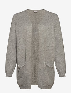 CARSTONE L/S LONG CARDIGAN ESS - cardigans - medium grey melange