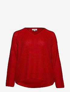 CARHANNE L/S O-NECK PULLOVER ESS - CHINESE RED