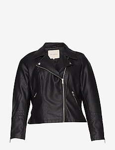CAREMMY FAUX LEATHER BIKER NOOS - BLACK
