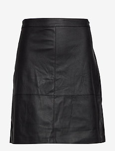CARDIEGO  FAUX LEATHER SKIRT ESS - BLACK