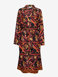 CARCELLY LS BLK  DRESS - BLACK