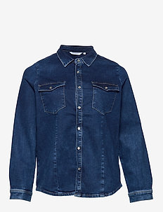 CARSANDY LS BB SHIRT SOO483BJ SUS - DARK BLUE DENIM