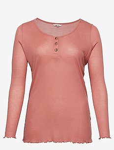 CARSOFT LS BLOUSE SUS - t-shirty basic - light mahogany