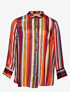 CARWILDING STRIPE LS SHIRT - ORANGE.COM