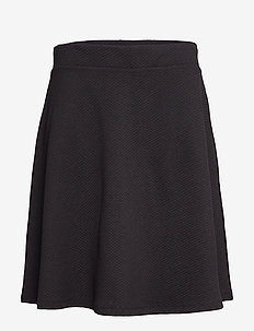 CARFAVORITE KNEE SKIRT - BLACK