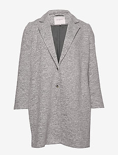 CARCARRIE MEL COAT OTW - LIGHT GREY MELANGE