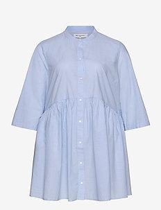 CARCHICAGO LIFE 2/4 DNM TUNIC DRESS - pitkähihaiset puserot - light blue denim