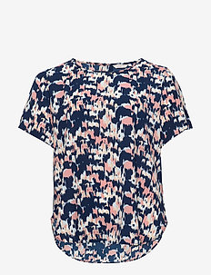 CARLUXCAM SS TOP AOP - t-shirts - peacoat