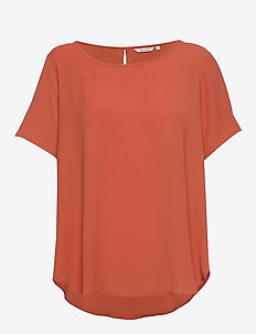 CARLUXCAM SS TOP SOLID - basic t-shirts - hot sauce