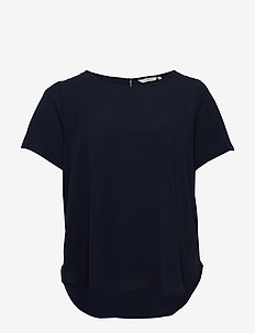 CARLUXCAM SS TOP SOLID - basic t-shirts - night sky