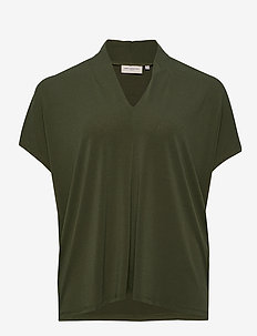 CARCLARA SS TOP ESS - basic t-shirts - forest night