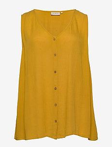 CARPATRO SL V-NECK TOP - blouses zonder mouwen - golden spice