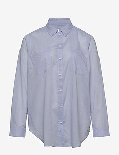 CARHALLA LIFE LS SHIRT ESS - langermede skjorter - medium blue denim