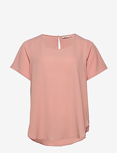CARLUXLOU SS TOP SOLID - t-shirts - misty rose