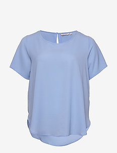 CARLUXLOU SS TOP SOLID - t-shirts - placid blue