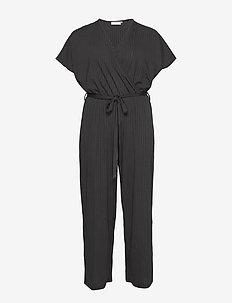 CARSIMONI S/S JUMPSUIT - jumpsuits - black