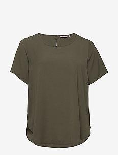 CARLUXMAI SS TOP SOLID - basic t-shirts - kalamata