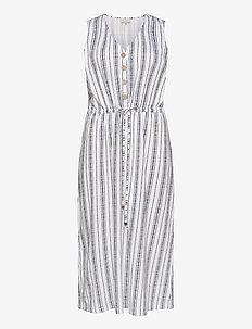 CARADELE LIFE SL CALF DRESS - do kolan & midi sukienki - bright white