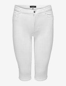 CARAUGUSTA LIFE HW SKINNY KNICKERS WHITE - spodnie capri - white