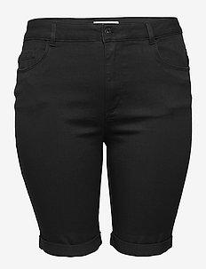 CARAUGUSTA LIFE HW SK LONG SHORTS  BLACK - jeansowe szorty - black