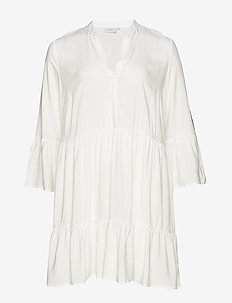 CARMARRAKESH 3/4 TUNIC DRESS SOLID - WHITE