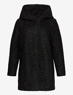 CARNEWSEDONA WOOL COAT OTW - ullkåper - black