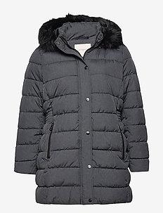 CARLUNA QUILTED COAT OTW - quiltade jackor - dark grey melange