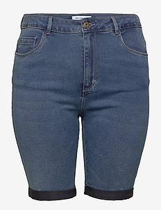 CARAUGUSTA HW SK LONG SHORTS  MBD - jeansowe szorty - medium blue denim