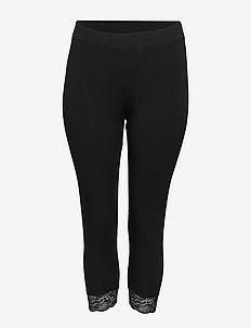 CARTIME LIFE CALF LACE LEGGINGS ESS - leggings - black