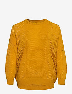 CARROSE L/S PULLOVER KNT - jumpers - golden yellow