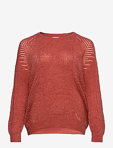 CARROSE L/S PULLOVER KNT - jumpers - mineral red