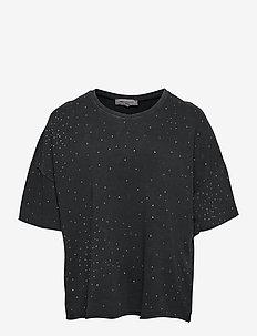 CARRUTH LIFE SS BOXY SWEAT - t-shirts - black