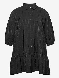 CARPIERRA 3/4 TUNIC DRESS - tuniques - black