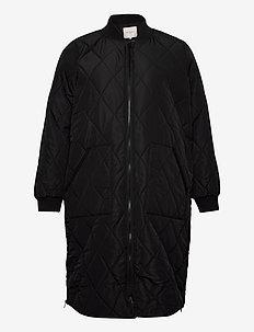 CARCARROT LS LONG QUILTED JACKET - vestes matelassées - black