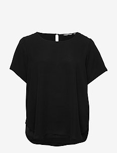 CARVICA SS AOP TOP NOOS - t-shirts - black
